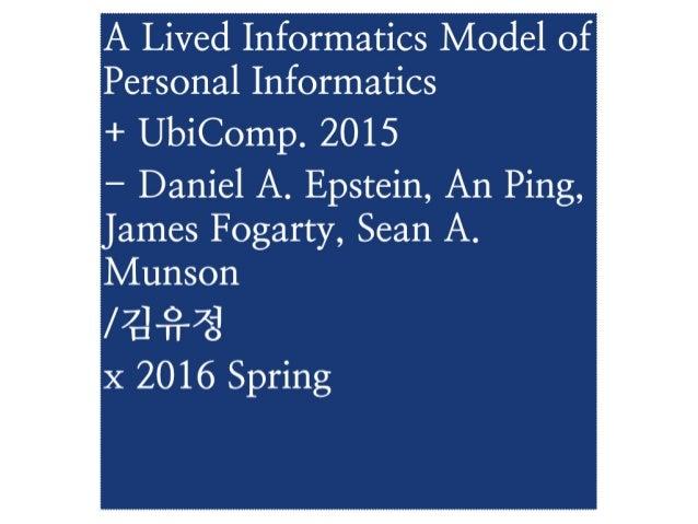 A Liver Informatics Model of Personal Informatics