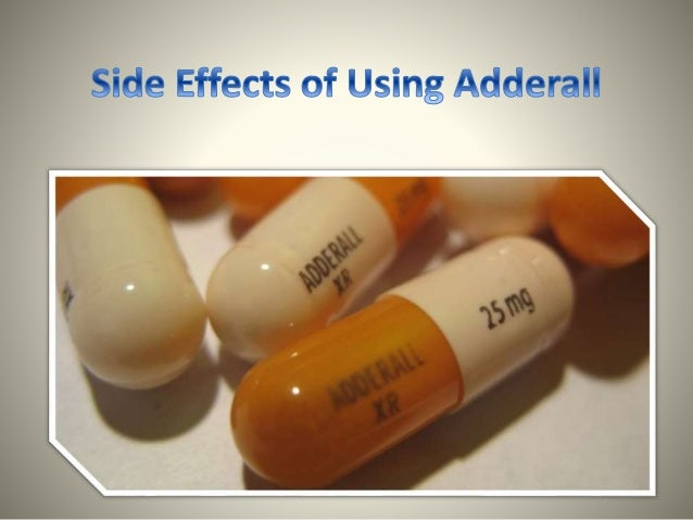Side Effects of Using Adderall