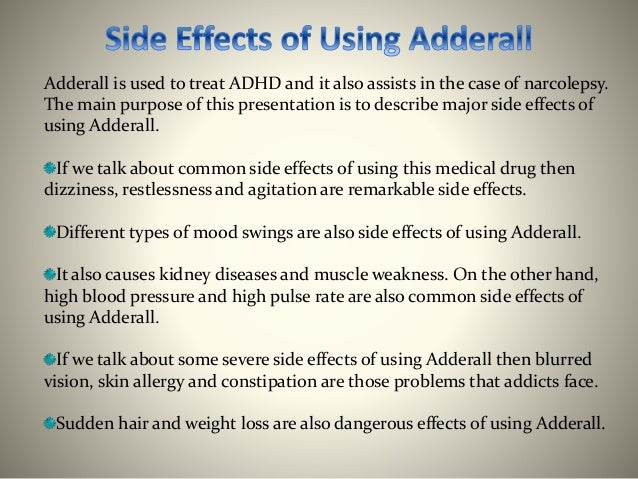 adderall side effects