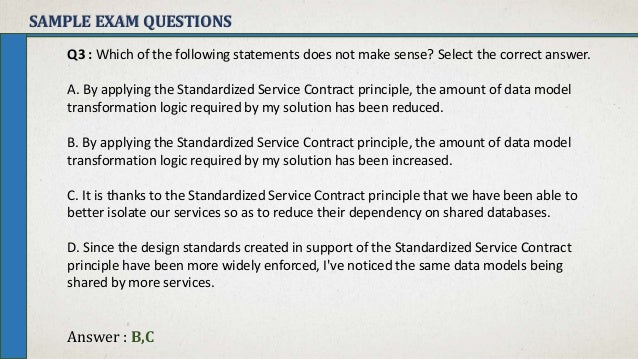 Soa Principles   Standarized Service Contract