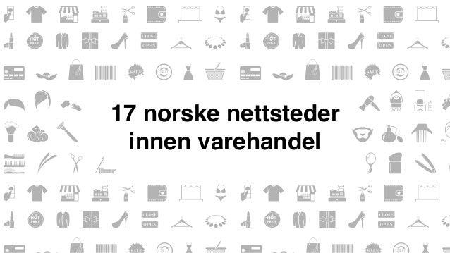 17 norske nettsteder  innen varehandel