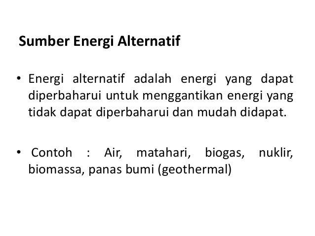 Contoh Makalah Energi Alternatif Listrik Hosof