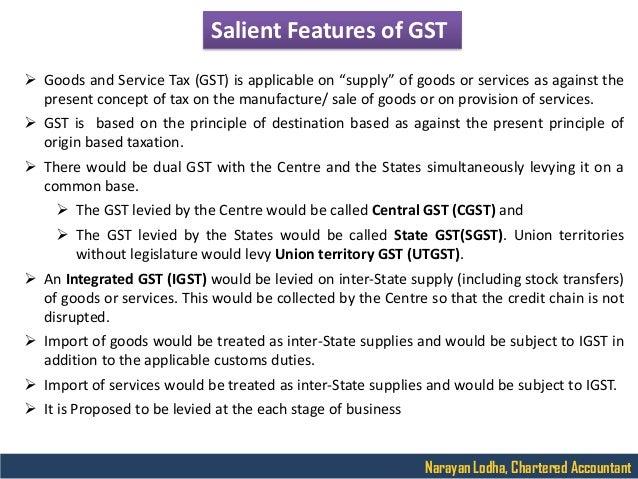 A Presentation on GST Slide 3