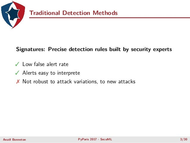 •Machine Learning for Computer Security Experts using Python & scikit-learn Anaël Bonneton Slide 3