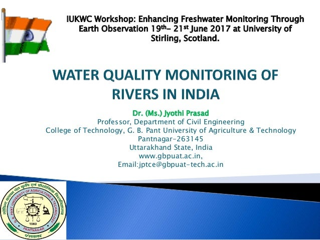 Dr. (Ms.) Jyothi Prasad Professor, Department of Civil Engineering College of Technology, G. B. Pant University of Agricul...