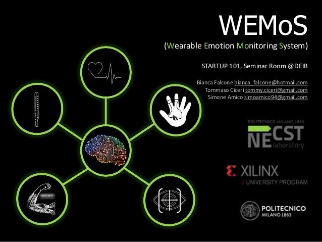 WEMoS (Wearable Emotion Monitoring System) STARTUP 101, Seminar Room @DEIB Bianca Falcone bianca_falcone@hotmail.com Tomma...