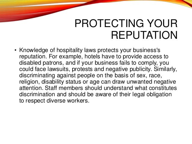 importance of hospitality law