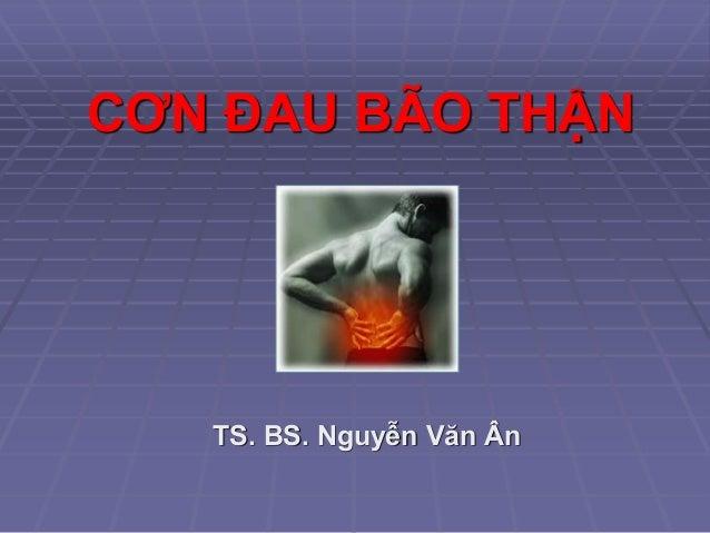 CƠN ĐAU BÃO THẬN TS. BS. Nguyễn Văn Ân