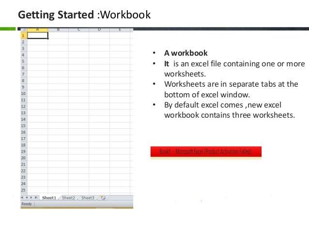 worksheet and workbook