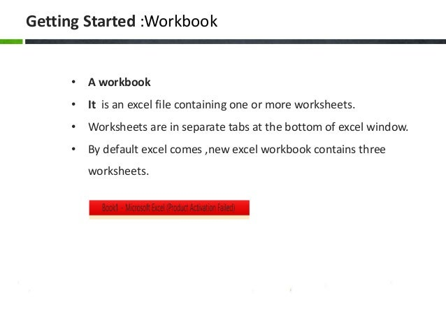 worksheet and workbook
