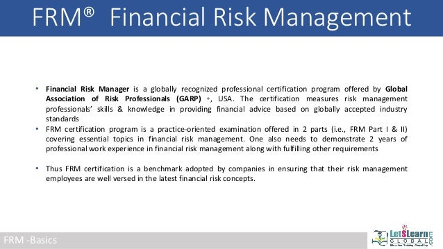 Financial Risk Manager - FRM