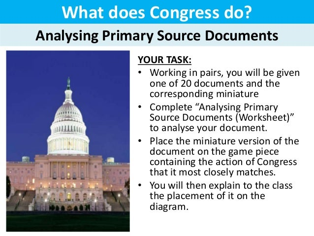 what is the main function of the us congress