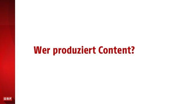 Wer produziert Content?