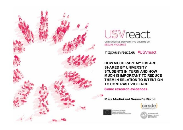 HOW MUCH RAPE MYTHS ARE SHARED BY UNIVERSITY STUDENTS IN TURIN AND HOW MUCH IS IMPORTANT TO REDUCE THEM IN RELATION TO INT...