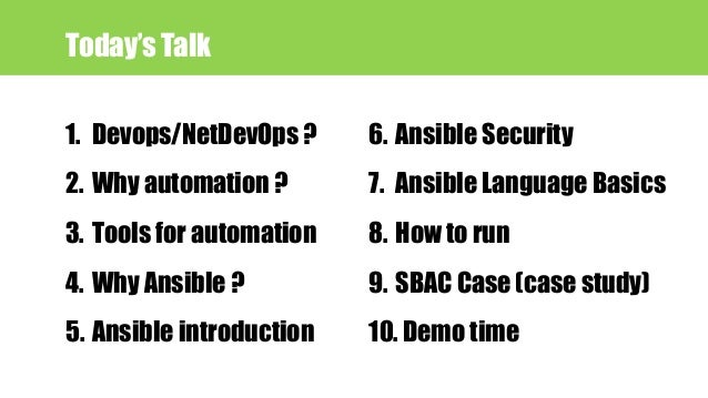 Network automation (NetDevOps) with Ansible Slide 2