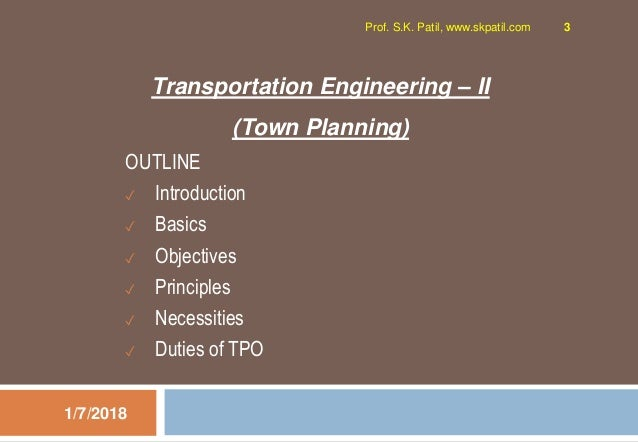 1.1 Town Planning Introduction Slide 3