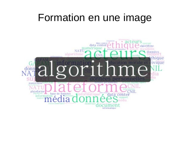 Formation en une image