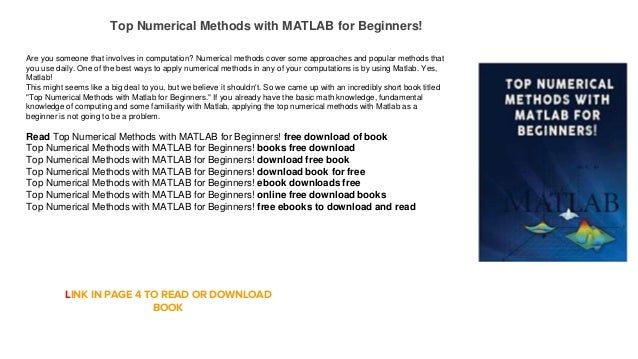 Best book for beginners - MATLAB Answers - MATLAB Central