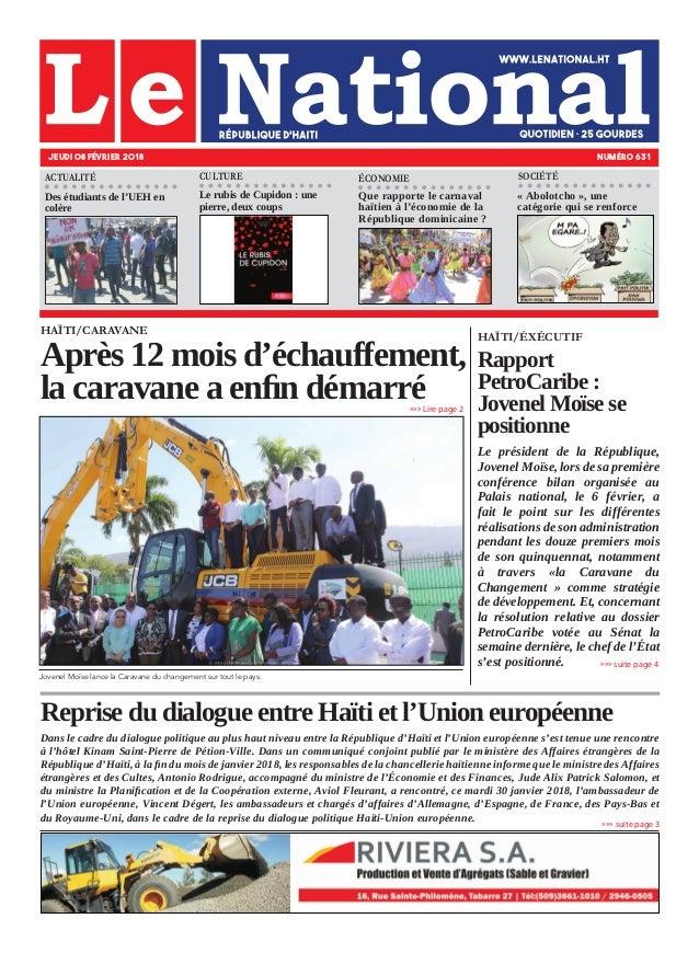 Reprise du dialogue entre Haïti et l'Union européenne Dans le cadre du dialogue politique au plus haut niveau entre la Rép...