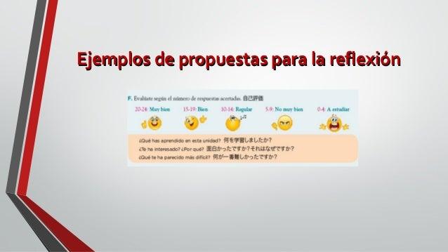 Ejemplos de propuestas para la reflexiónEjemplos de propuestas para la reflexión