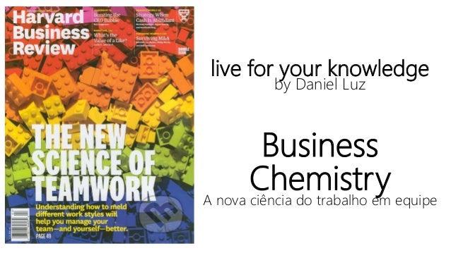live for your knowledge by Daniel Luz Business ChemistryA nova ciência do trabalho em equipe 1