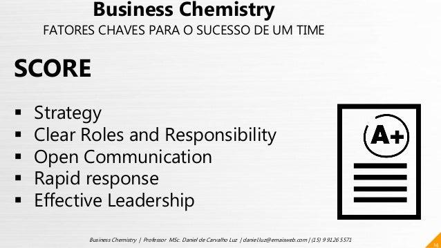 14 Business Chemistry | Professor MSc. Daniel de Carvalho Luz | daniel.luz@emaisweb.com | (15) 9 9126 5571 Business Chemis...