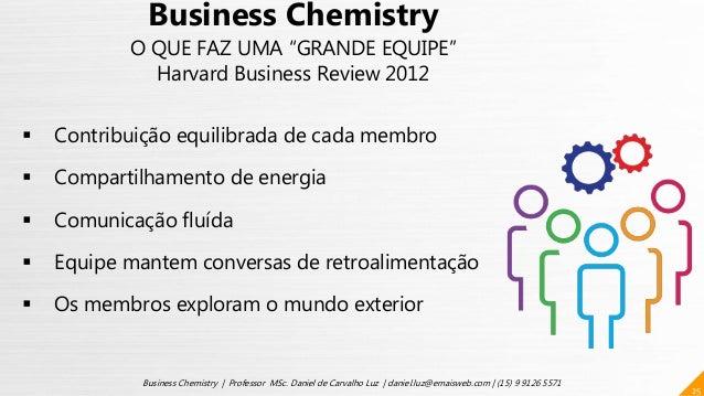 25 Business Chemistry | Professor MSc. Daniel de Carvalho Luz | daniel.luz@emaisweb.com | (15) 9 9126 5571  Contribuição ...