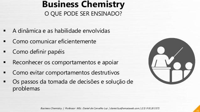 29 Business Chemistry | Professor MSc. Daniel de Carvalho Luz | daniel.luz@emaisweb.com | (15) 9 9126 5571 Business Chemis...