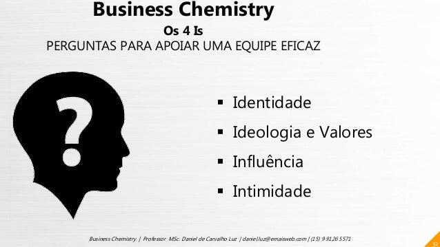 32 Business Chemistry | Professor MSc. Daniel de Carvalho Luz | daniel.luz@emaisweb.com | (15) 9 9126 5571 Business Chemis...