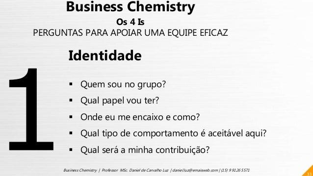 33 Business Chemistry | Professor MSc. Daniel de Carvalho Luz | daniel.luz@emaisweb.com | (15) 9 9126 5571 Business Chemis...
