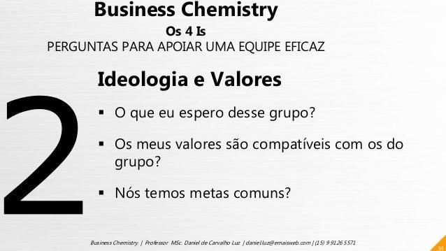 34 Business Chemistry | Professor MSc. Daniel de Carvalho Luz | daniel.luz@emaisweb.com | (15) 9 9126 5571 Business Chemis...