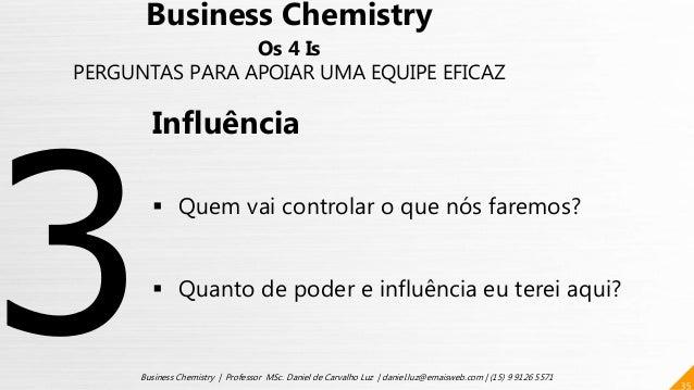 35 Business Chemistry | Professor MSc. Daniel de Carvalho Luz | daniel.luz@emaisweb.com | (15) 9 9126 5571 Business Chemis...