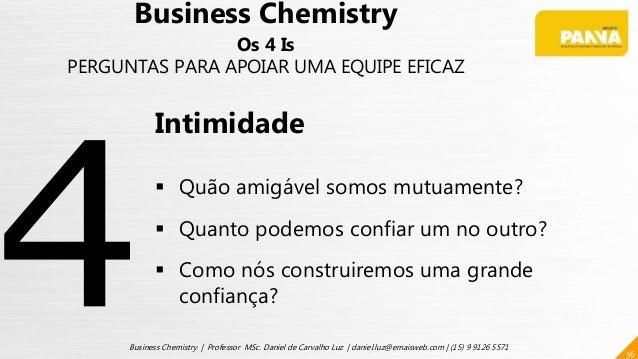 36 Business Chemistry | Professor MSc. Daniel de Carvalho Luz | daniel.luz@emaisweb.com | (15) 9 9126 5571 Business Chemis...