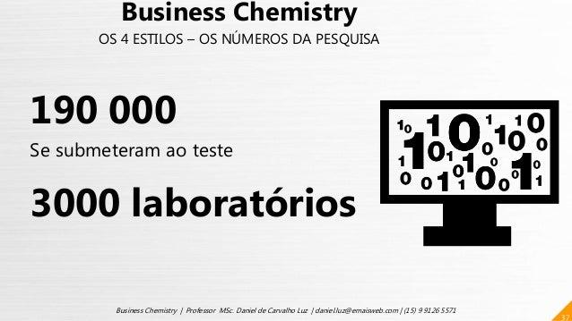 37 Business Chemistry | Professor MSc. Daniel de Carvalho Luz | daniel.luz@emaisweb.com | (15) 9 9126 5571 Business Chemis...
