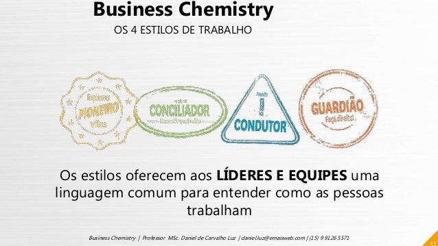 43 Business Chemistry | Professor MSc. Daniel de Carvalho Luz | daniel.luz@emaisweb.com | (15) 9 9126 5571 Business Chemis...