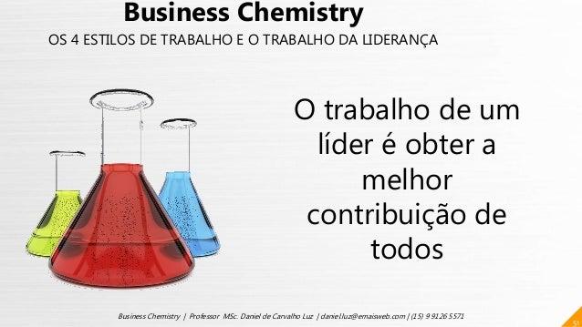 O trabalho de um líder é obter a melhor contribuição de todos 51 Business Chemistry | Professor MSc. Daniel de Carvalho Lu...