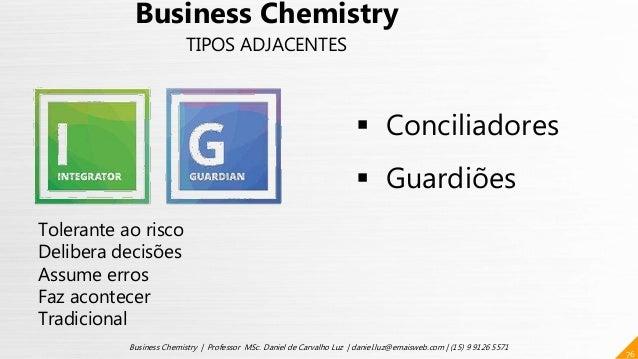76 Business Chemistry | Professor MSc. Daniel de Carvalho Luz | daniel.luz@emaisweb.com | (15) 9 9126 5571  Conciliadores...