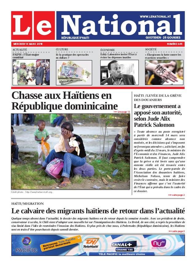 HAÏTI/MIGRATION Le calvaire des migrants haïtiens de retour dans l'actualité Quelque temps absent dans l'actualité, le dos...