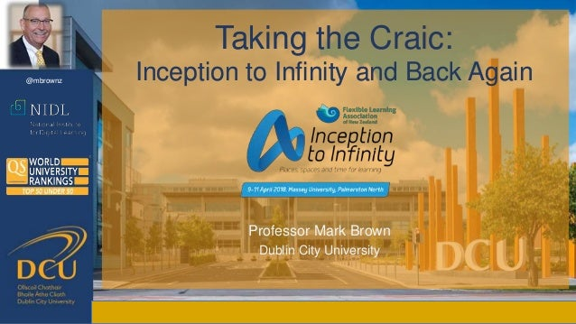 Taking the Craic: Inception to Infinity and Back Again Taking the Craic: Inception to Infinity and Back Again Professor Ma...