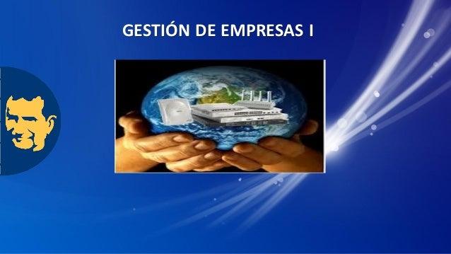 GESTIÓN DE EMPRESAS I