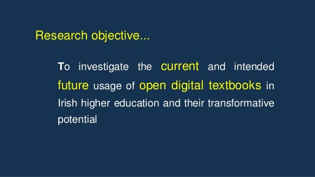 4. What are the perceived advantages and disadvantages of adopting open digital textbooks in Irish higher education? 5. Wh...