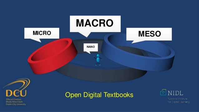 MICRO MACRO MESO NANO Open Digital Textbooks
