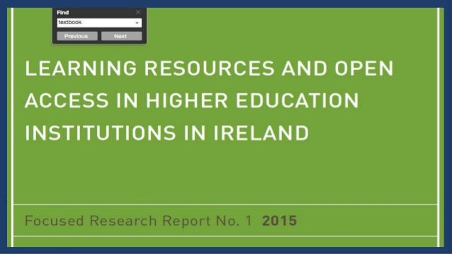 Textbooks at an Irish University Textbooks remain in widespread use