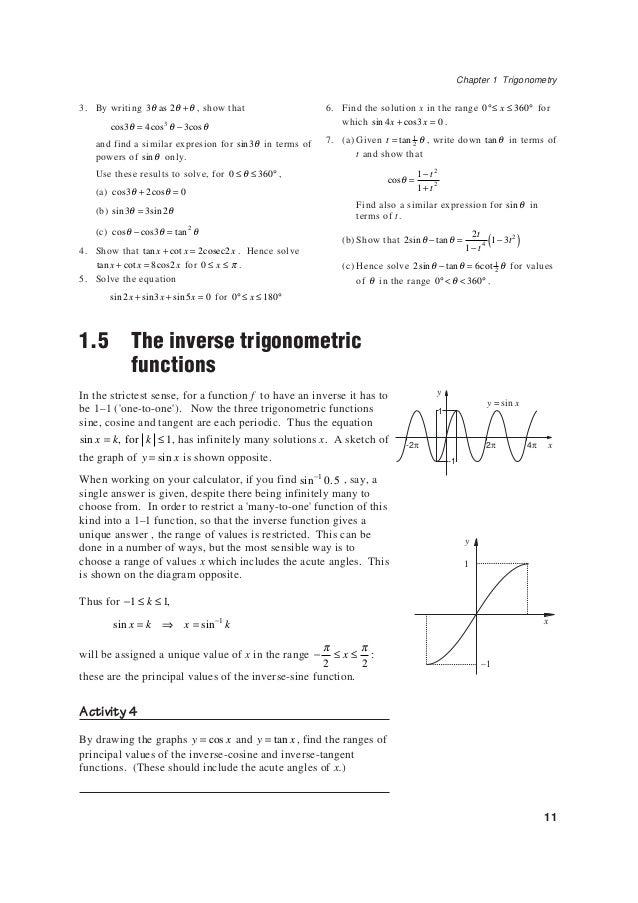 1 trigonometry Further Mathematics Zimbabwe Zimsec Cambridge