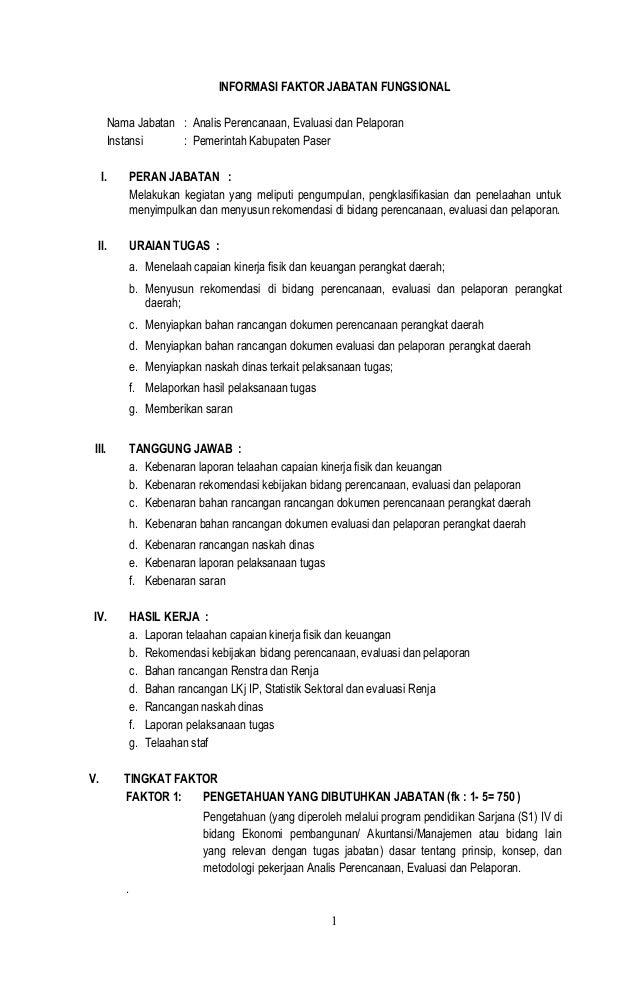 Draft Evaluasi Jabatan Analis Perencanaan Evaluasi Dan Pelaporan