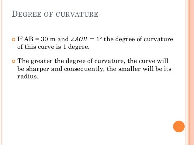 1  curvature of track