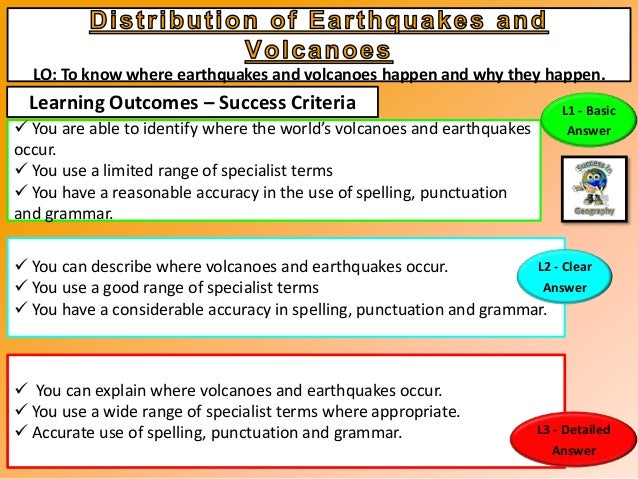 1  Distribution of Volcanoes and Earthquakes