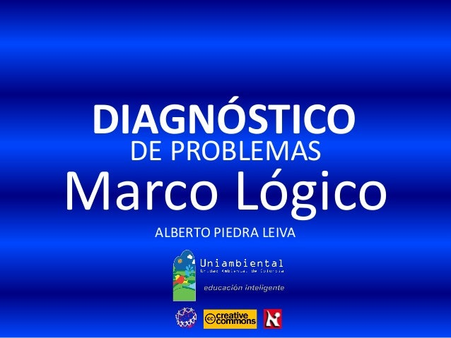 DE PROBLEMAS ALBERTO PIEDRA LEIVA Marco Lógico DIAGNÓSTICO