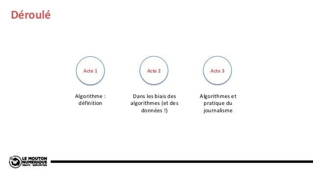 Algorithmes Que (nous) font-ils et comment garder le contrôle ? Slide 3