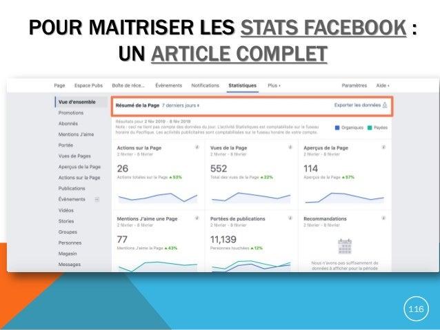 POUR MAITRISER LES STATS FACEBOOK : UN ARTICLE COMPLET 116
